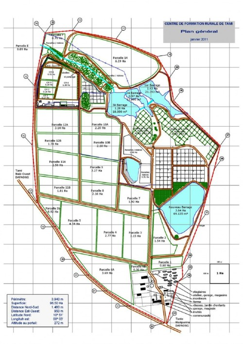 plan général du centre de Tami 2011
