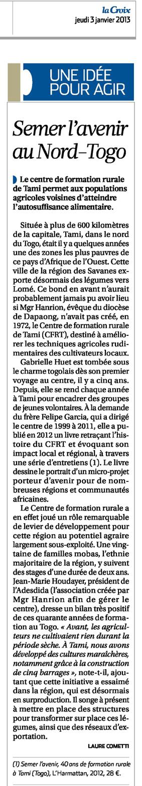 article La Croix 2013 0105.pdf
