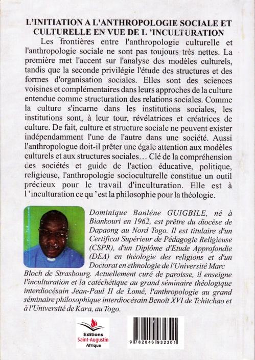 Domnique Guigbile initiation a l'anthropologie couv4
