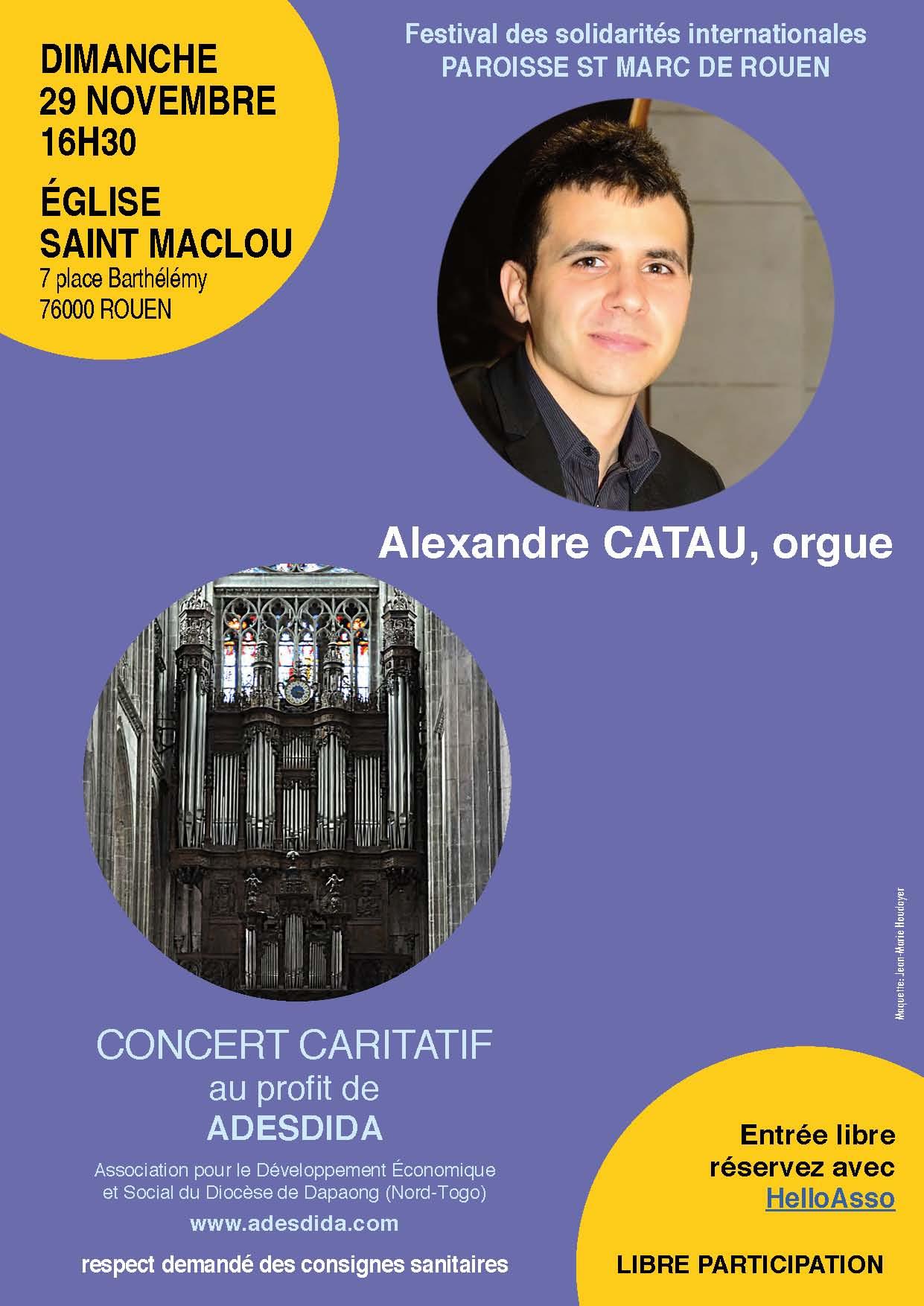 affiche concert Rouen St Maclou 29 nov 2020 avec lien r
